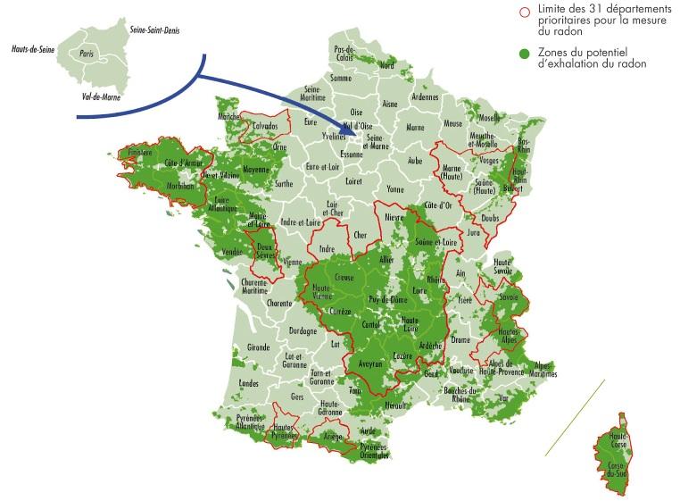 STL 6 Radon- Potentiel d exhalation radon en France metropolitaine - 2018